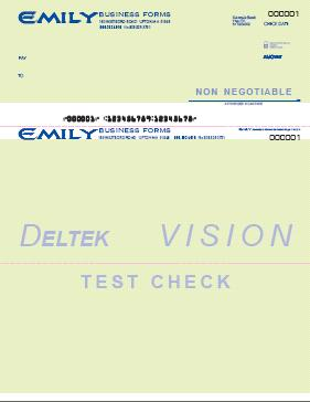vision and advantage sample checks are available to you as you install your software additional copies can be printed by selecting the images below